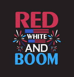 red white and boom vector image