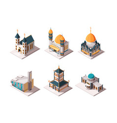 religion buildings islamic mosque arabic vector image