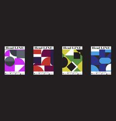 Retro geometric covers design eps10 vector
