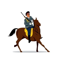 Russian cavalry Cartoon vector image
