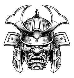 samurai monochrome version vector image vector image