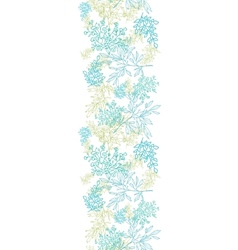 Scattered blue green branches vertical seamless vector image
