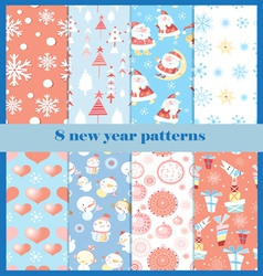 set patterns for new year vector image