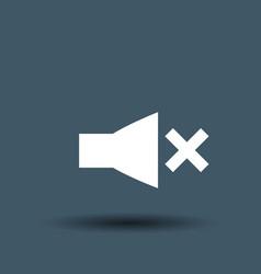 speaker icon on white background vector image