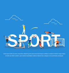 sport concept of young people playing vector image