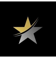 Star symbol logo vector image