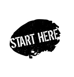 Start here rubber stamp vector