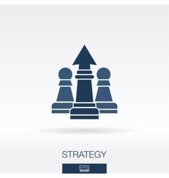 Strategy concept icon logo vector
