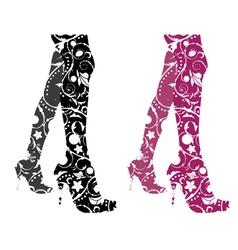 Stylized woman legs vector