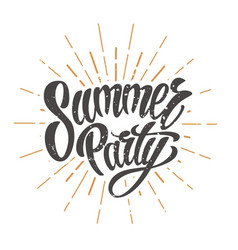 summer party emblem vector image