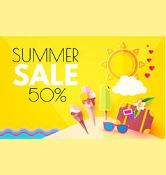 summer sale hot vacation design template enjoy vector image