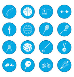 Summer sport icon blue vector