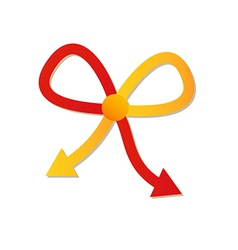 Two arrows and two different ways vector