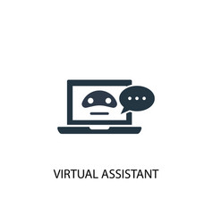Virtual assistant icon simple element vector