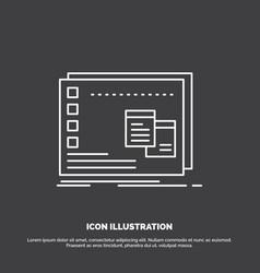 Window mac operational os program icon line vector