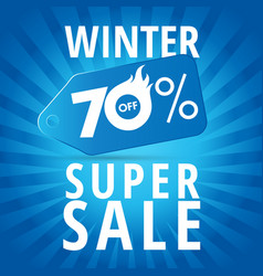 winter super sale 70 off vector image
