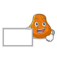 with board hard shell character cartoon vector image