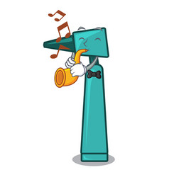 with trumpet otoscope mascot cartoon style vector image