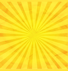 yellow sunburst retro background vector image