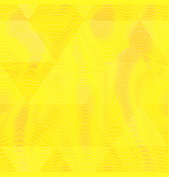 yellow triangle pattern with wave effect vector image