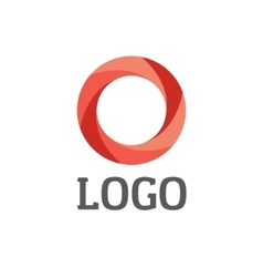 Abstract circle round logo for business vector image