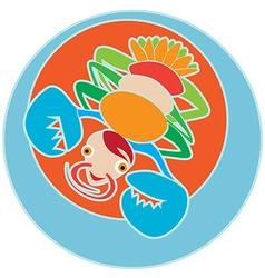 clip art cancer vector image vector image