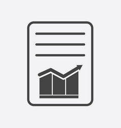 Document with chart symbol flat vector