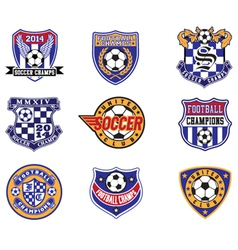 Football soccer badges patches and emblem vector