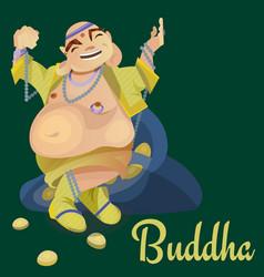 isolated indian gods buddha meditation in yoga vector image vector image
