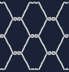 seamless nautical rope pattern - half knots vector image vector image