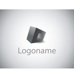 sign logo name vector image