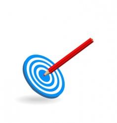 target bullseye vector image vector image