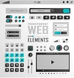 Web Elements Buttons and Labels Site vector image vector image