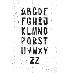 A set of grunge simple letters vector