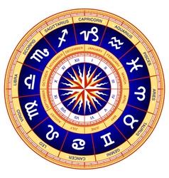 astrological wheel vector image vector image