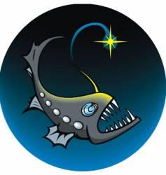 deep sea angler vector image