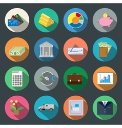 Finance flat icons vector image