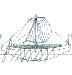 Phoenician ship vector image vector image