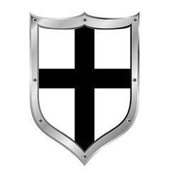 Shield medieval Teutonic Order vector image