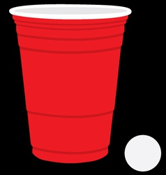 Solo cup and ball vector