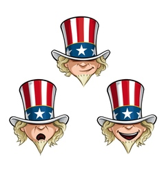 Uncle Sam Head vector image vector image