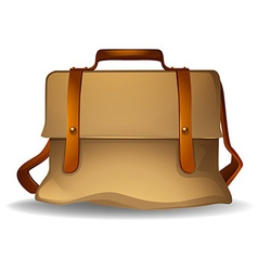 Brown bag vector image