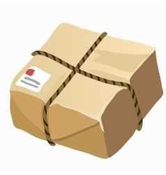 Brown closed carton delivery packaging box vector image