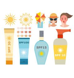 cream sunscreen bottle icon sunblock vector image vector image