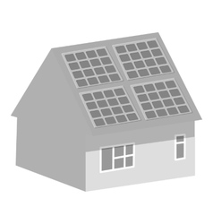 Smart home icon gray monochrome style vector