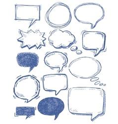 speech bubbles on chalkboard vector image