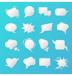 Comic Speech Bubbles Blank Templates for Chat vector image