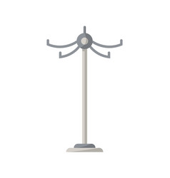 floor clothes hanger isolated icon in flat style vector image