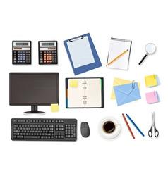 mega office supplies set vector image vector image