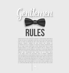 white shirt gentlemen rules list template vector image